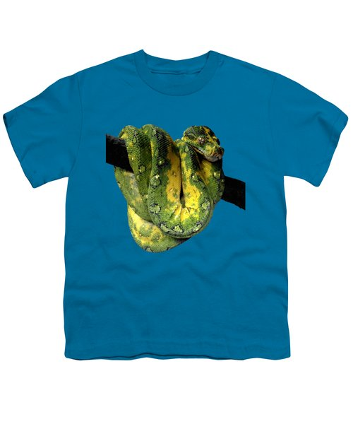 Green Tree Python 2 Youth T-Shirt by Alondra Hanley