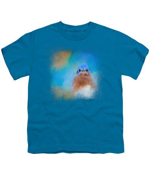 Blue Is Beautiful Youth T-Shirt by Jai Johnson