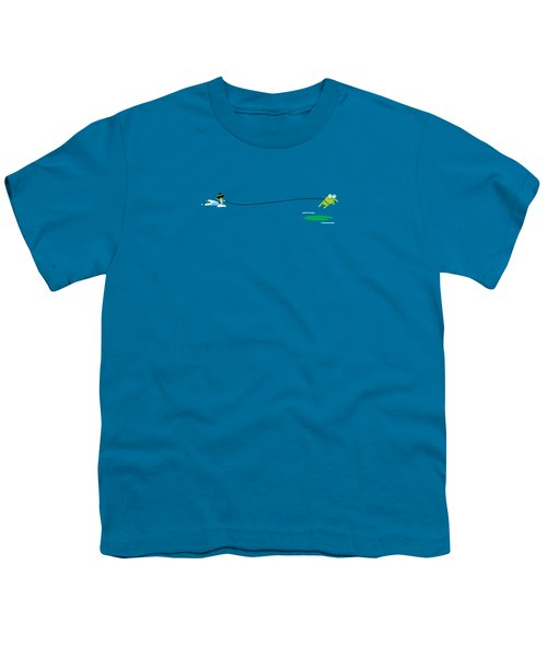 Del Jetski Youth T-Shirt by Pbs Kids