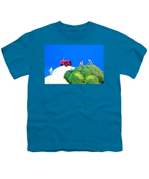 Farming On Broccoli And Cauliflower II Youth T-Shirt by Paul Ge