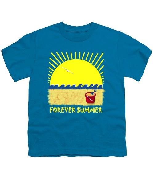Forever Summer 8 Youth T-Shirt by Linda Lees