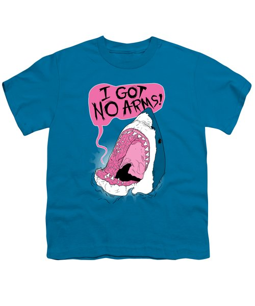 I Got No Arms Youth T-Shirt by Mike Lopez