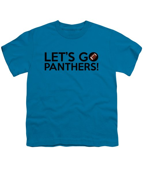 Let's Go Panthers Youth T-Shirt by Florian Rodarte