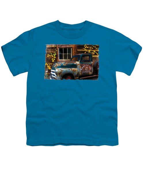 Moonshine Express Bordered Youth T-Shirt by Debra and Dave Vanderlaan
