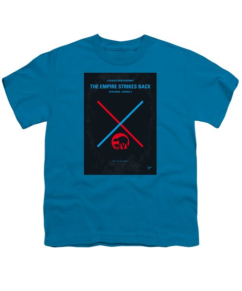 No155 My Star Wars Episode V The Empire Strikes Back Minimal Movie Poster Youth T-Shirt by Chungkong Art