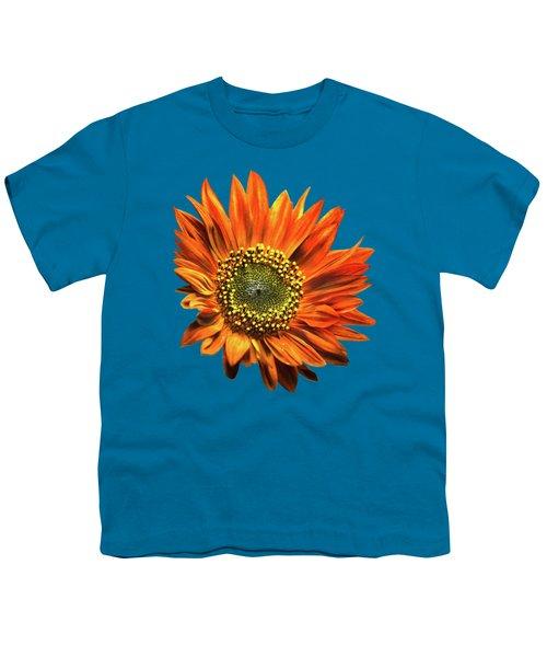 Orange Sunflower Youth T-Shirt by Christina Rollo