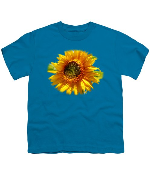 Sunny Sunflower Square Youth T-Shirt by Christina Rollo