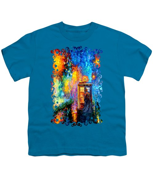 The Doctor Lost In Strange Town Youth T-Shirt by Three Second