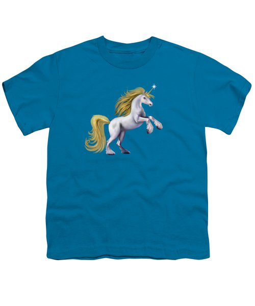 The Golden Unicorn Youth T-Shirt by Glenn Holbrook