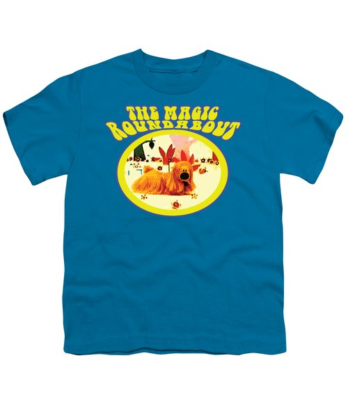 The Magic Roundabout Retro Design Hippy Design 60s And 70s Youth T-Shirt by Paul Telling