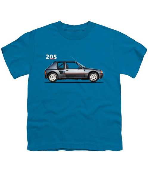 The Peugeot 205 Turbo Youth T-Shirt by Mark Rogan
