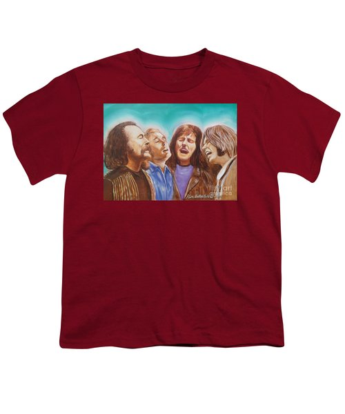 Crosby Stills Nash And Young Youth T-Shirt by Kean Butterfield