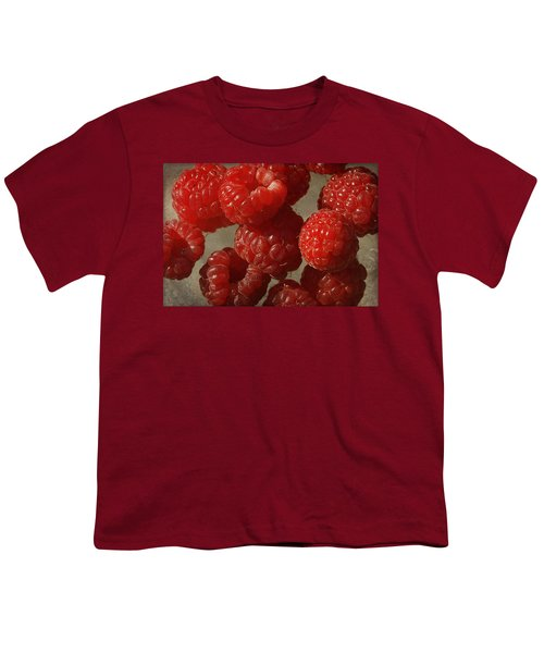Red Raspberries Youth T-Shirt by Cindi Ressler