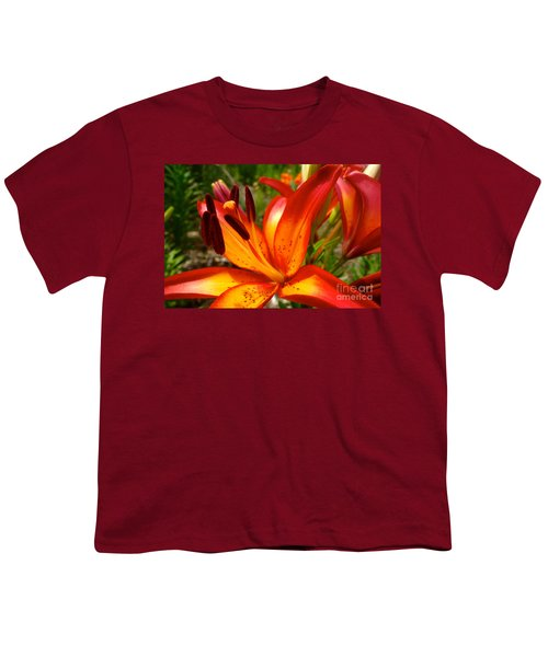 Royal Sunset Lily Youth T-Shirt by Jacqueline Athmann