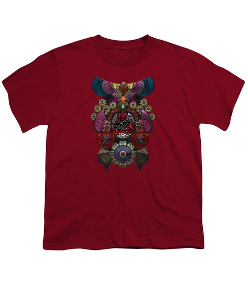 Chinese Masks - Large Masks Series - The Demon Youth T-Shirt by Serge Averbukh