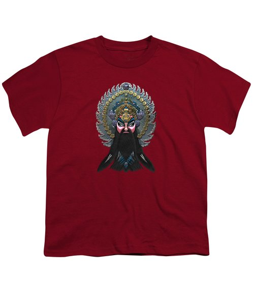 Chinese Masks - Large Masks Series - The Emperor Youth T-Shirt by Serge Averbukh