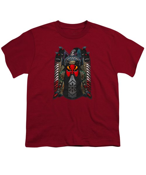 Chinese Masks - Large Masks Series - The Red Face Youth T-Shirt by Serge Averbukh