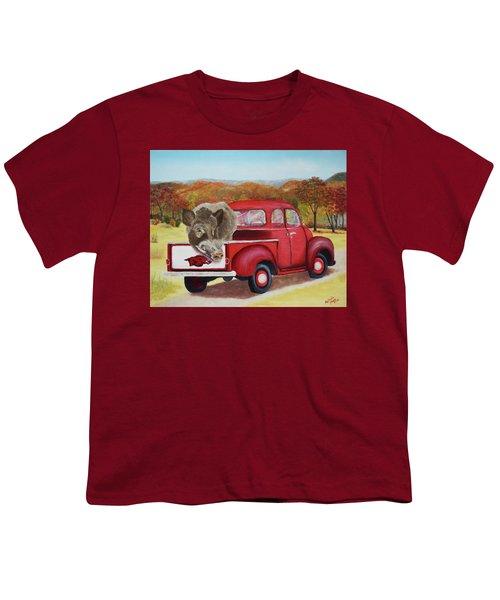 Ridin' With Razorbacks 2 Youth T-Shirt by Belinda Nagy