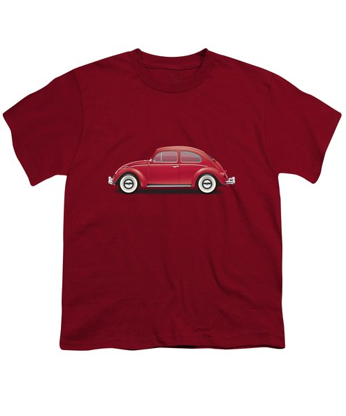 1964 Volkswagen 1200 Deluxe Sedan - Ruby Red Youth T-Shirt by Ed Jackson