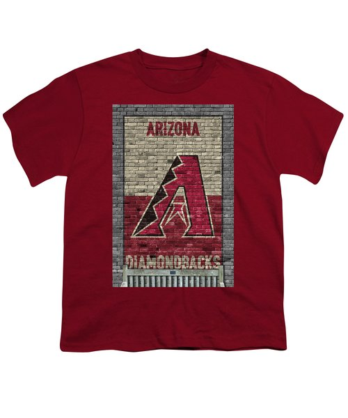 Arizona Diamondbacks Brick Wall Youth T-Shirt by Joe Hamilton