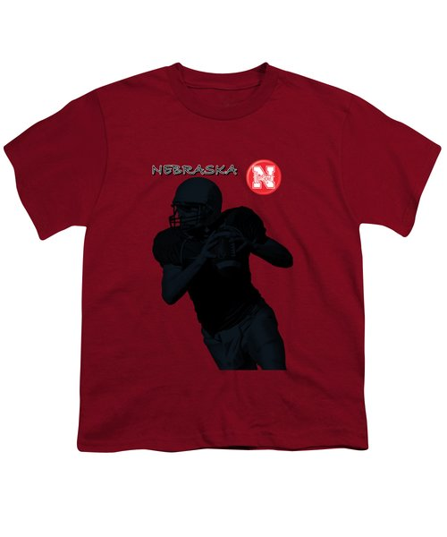 Nebraska Football Youth T-Shirt by David Dehner