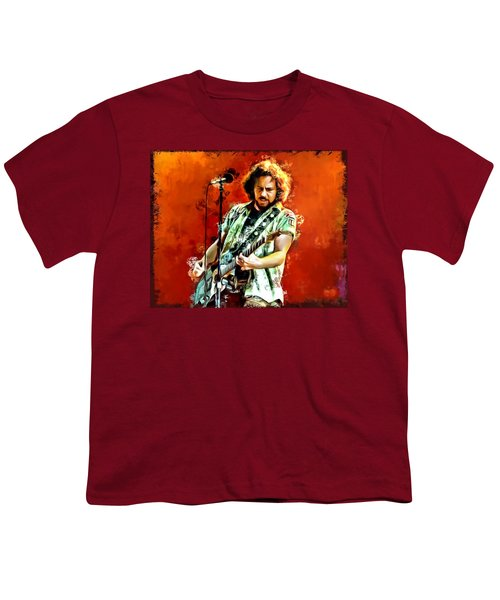 Eddie Vedder Painting Youth T-Shirt by Scott Wallace