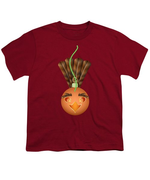 Hallowgivingmas Turkey Ornament Holiday Humor Youth T-Shirt by MM Anderson