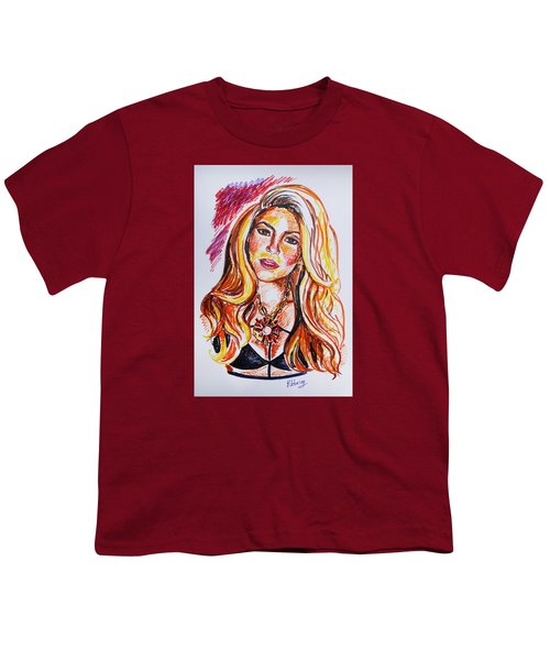Shakira Youth T-Shirt by Viktoriya Lavtsevich