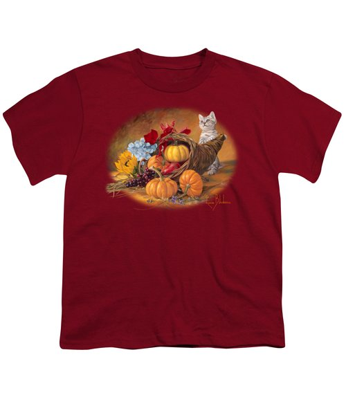 Thankful Youth T-Shirt by Lucie Bilodeau