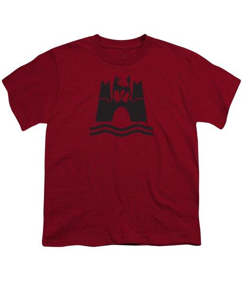 Wolfburg Logo Youth T-Shirt by Ed Jackson