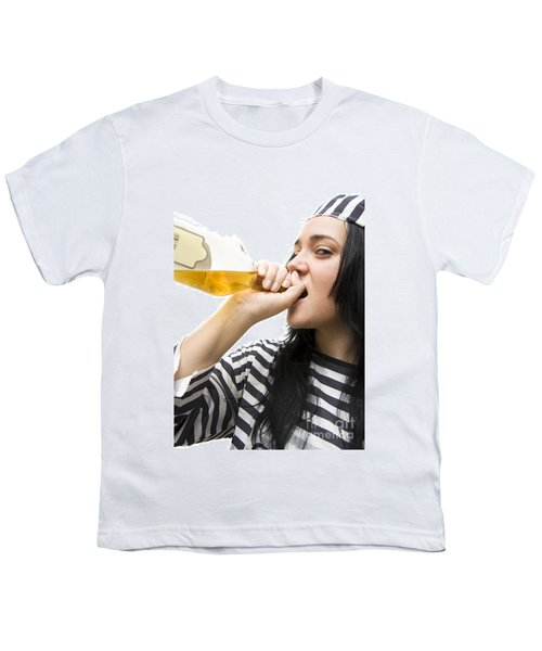Drinking Detainee Youth T-Shirt by Jorgo Photography - Wall Art Gallery