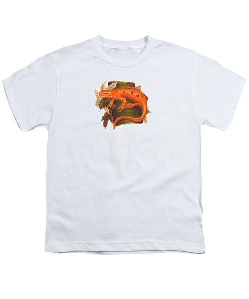 Red Eft Youth T-Shirt by Cindy Hitchcock