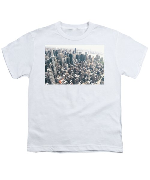 New York City From Above Youth T-Shirt by Vivienne Gucwa