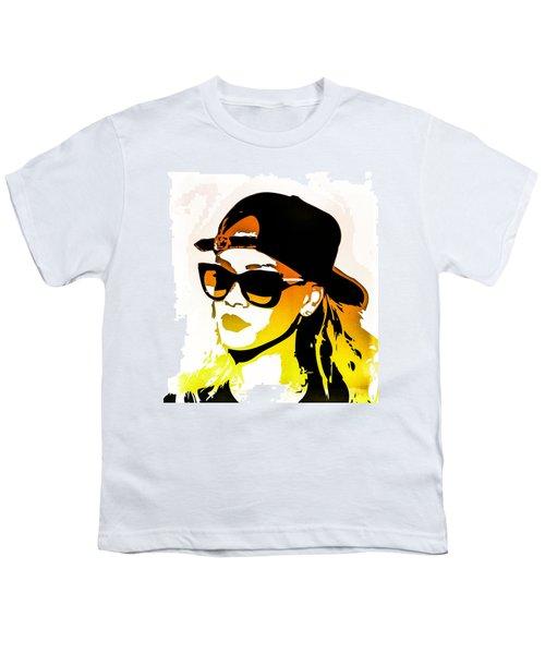 Rihanna Youth T-Shirt by Svelby Art