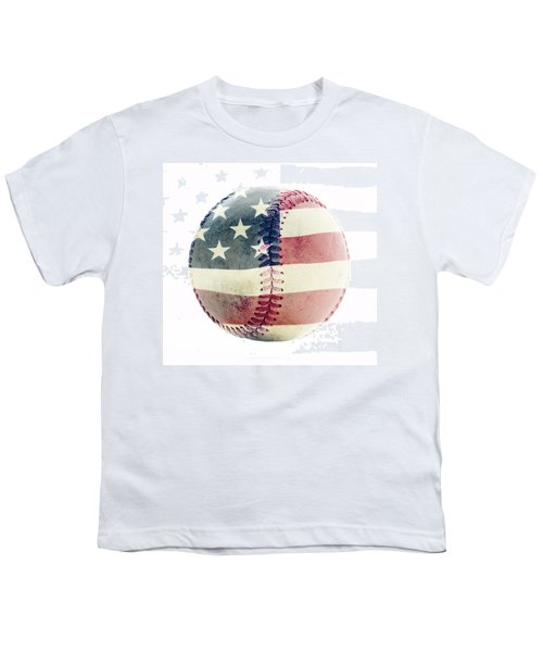 American Baseball Youth T-Shirt by Terry DeLuco