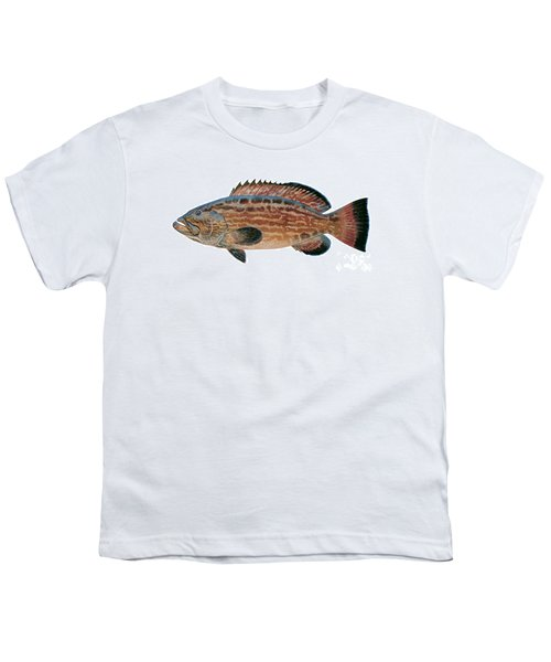 Black Grouper Youth T-Shirt by Carey Chen