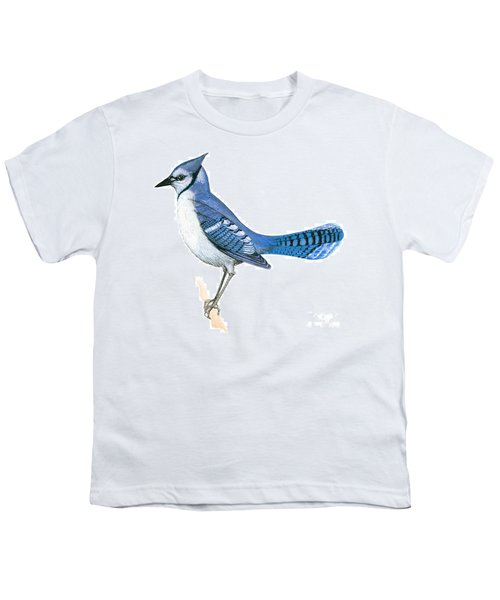 Blue Jay  Youth T-Shirt by Anonymous