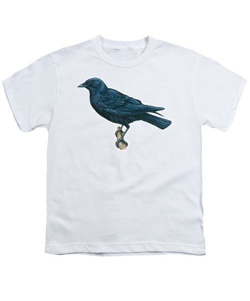 Crow Youth T-Shirt by Anonymous