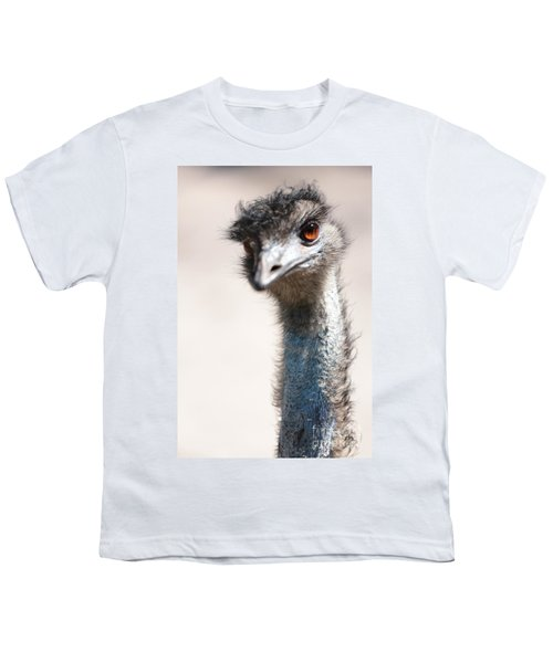 Curious Emu Youth T-Shirt by Carol Groenen