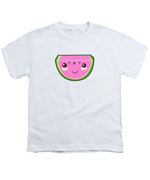 Cute Watermelon Illustration Youth T-Shirt by Pati Photography