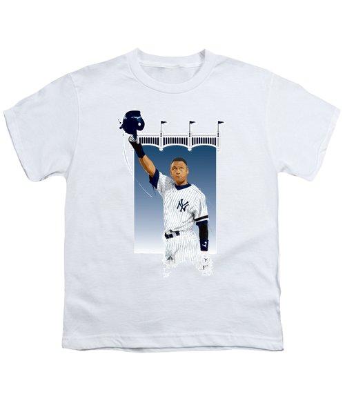 Derek Jeter 3000 Hits Youth T-Shirt by Scott Weigner