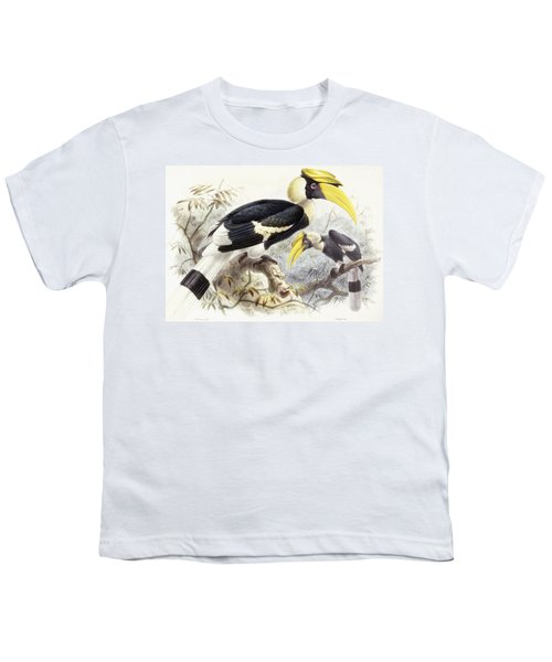 Dichocerus Bicornis Youth T-Shirt by Johan Gerard Keulemans