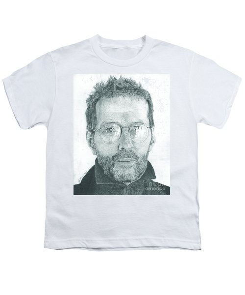 Eric Clapton Youth T-Shirt by Jeff Ridlen