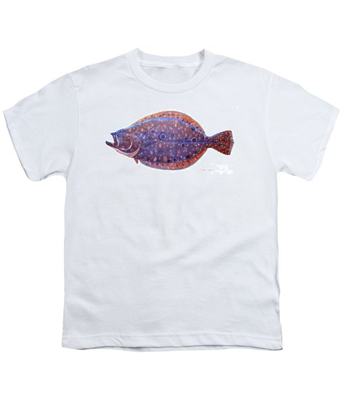 Flounder Youth T-Shirt by Carey Chen