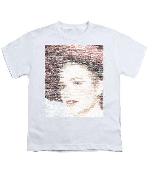 Grace Kelly Typo Youth T-Shirt by Taylan Apukovska