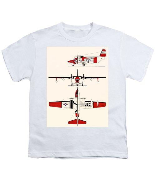 Grumman Hu-16e Albatross Youth T-Shirt by Mountain Dreams