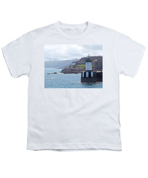 Guernsey Lighthouse Youth T-Shirt by Gill Billington