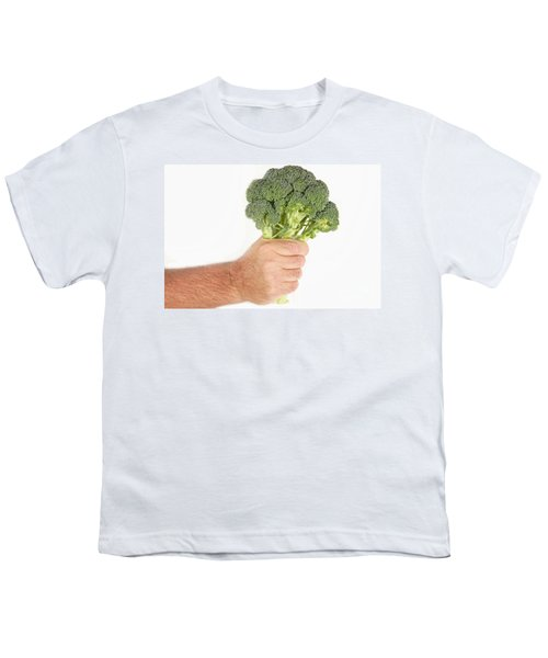 Hand Holding Broccoli Youth T-Shirt by James BO  Insogna