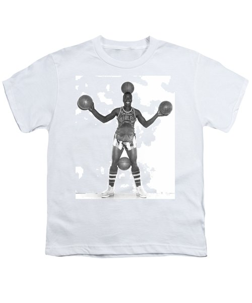Harlem Globetrotters Player Youth T-Shirt by Underwood Archives