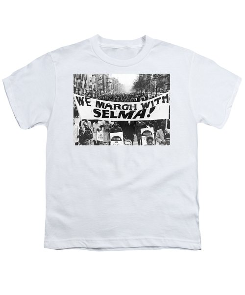 Harlem Supports Selma Youth T-Shirt by Stanley Wolfson
